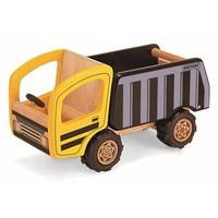 Houten kiepwagen Pintoy 10x24x13 cm