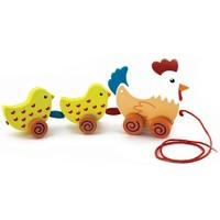 Trekdier New Classic Toys: kip met kuikens 20x14 cm