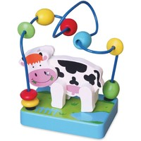 Kralenframe mini New Classic Toys: koe 12x15x9 cm