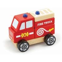 Stapel Auto New Classic Toys: brandweer 13x10x8cm