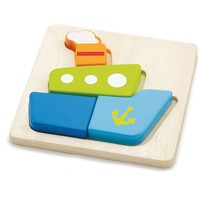 Puzzel New Classic Toys: boot 15x15 cm