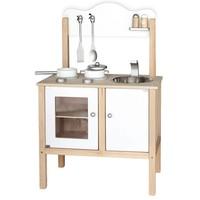 Keukentje hout wit 30x54x83 cm