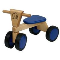 Loopfiets met 4 wielen blauw Van Bueren 55x42x30 cm