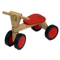 Loopfiets met 4 wielen rood Van Bueren 55x42x30 cm