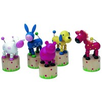Drukpoppetje Simply for Kids: dieren 12x5 cm