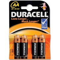 Batterijen Duracell Plus Power MN 1500 AA: 4 stuks