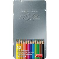 Kleurpotloden in blik MXZ: 12 stuks