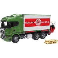 Scania R vrachtwagen met container Bruder