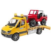 Mercedes Sprinter met jeep Bruder