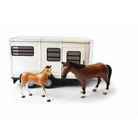 Paardentrailer met paarden Big Farm Britains