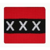 Aanvoerdersband ajax rood/zwart xxx