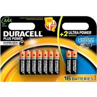 Batterijen Duracell Plus Power MN 2400 AAA: 16 stuks