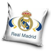Kussen real madrid wit 40x40 cm