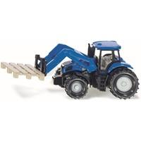 Tractor met palletvork en pallet SIKU