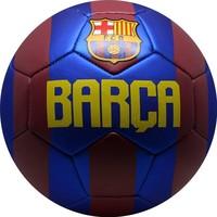 Bal barcelona leer groot rood/blauw metallic