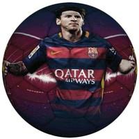 Bal barcelona leer groot rood/blauw Messi