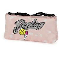 Etui Replay Girls pink: 10x21x6 cm