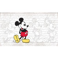 Stickerbehang Mickey Mouse RoomMates 91x152 cm