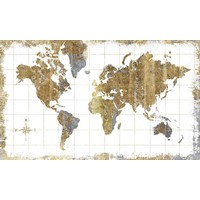 Stickerbehang RoomMates worldmap 91x152 cm