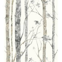 Wandsticker RoomMates Peel & Stick Decor Birch Trees