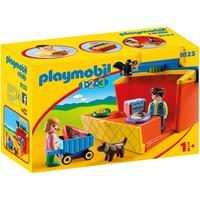 1.2.3 Meeneem marktkraam Playmobil