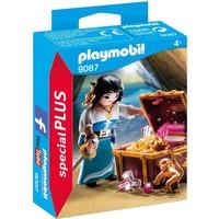 Piratenvrouw met schatkist Playmobil