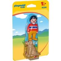 1.2.3 Man met hond Playmobil