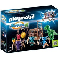 Alien krijgers met T-Rex Playmobil