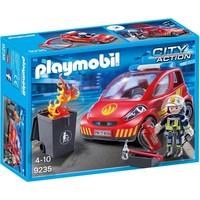 Brandweerman met interventievoertuig Playmobil