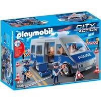 Politie interventiewagen met wegversperring Playmobil