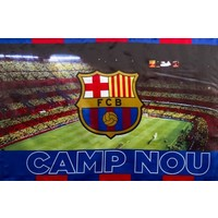 Vlag barcelona groot 100x150 cm stadion