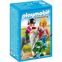 Ponyrijden met mama Playmobil