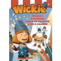 Kleurboek Wickie A4 zeil