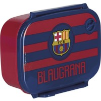 Lunchbox barcelona rood stripes
