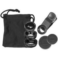 Smartphone clip-on lens set 3 in 1