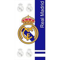 Badlaken real madrid wit/blauw logo's 75x150 cm