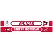Sjaal ajax rood/wit AFC logo en wapen