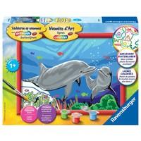 Dolfijnen Schilderen op nummer