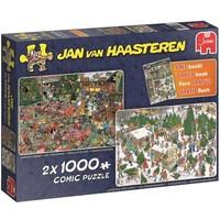 Puzzel Jan van Haasteren Kerstcadeaus 2x1000 stukjes