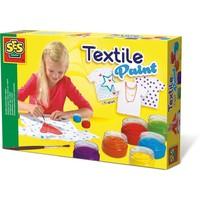 Textielverf met T-shirt SES