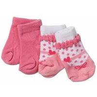 Sokken Baby Born 2-pack wit/roze en roze