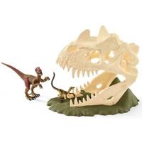 Grote schedelvalstrik met Velociraptor Schleich