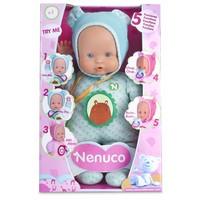 Pop Nenuco soft met 5 functies blauw 30 cm