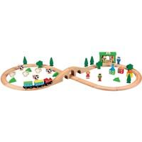 Houten treinset New Classic Toys 50-delig