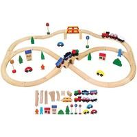 Treinset hout Viga Toys 49-delig