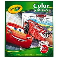 Kleur- en stickerboek Crayola Cars 3