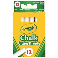 Bordkrijt wit Crayola: 12 stuks