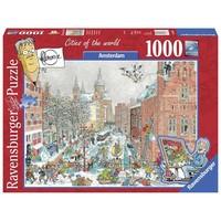 Puzzel Amsterdam winter: 1000 stukjes