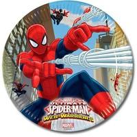 Bordjes Spider-Man 23 cm: 8 stuks