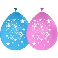 Ballonnen eenhoorn: 8 stuks
